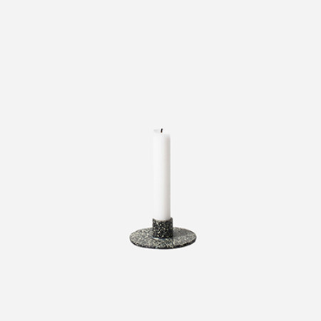 Spotted Cast Iron Candle Holder