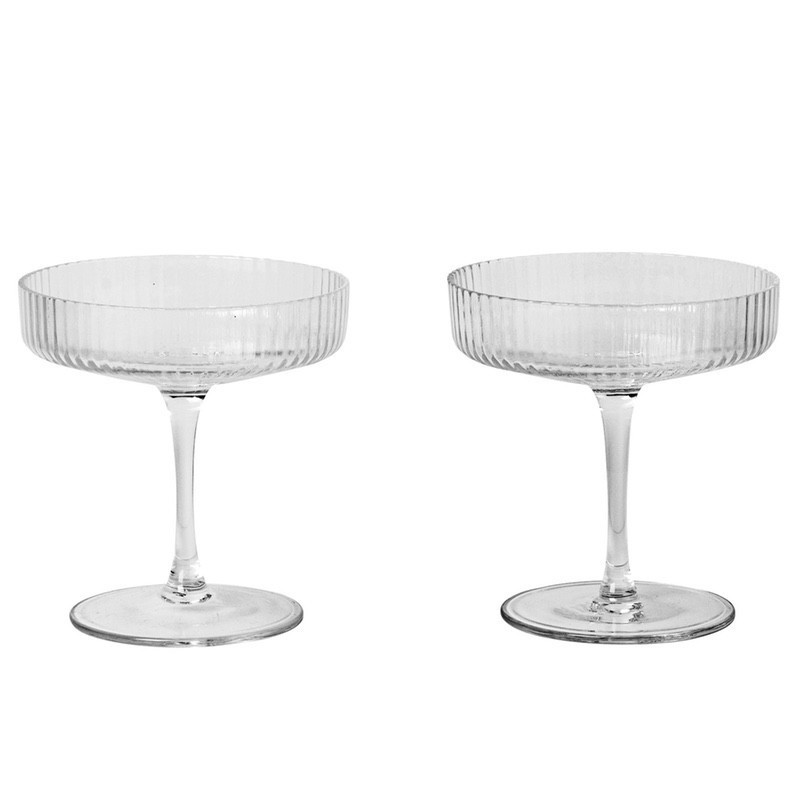 Ferm Ripple Champagne Glasses Cut Out 800