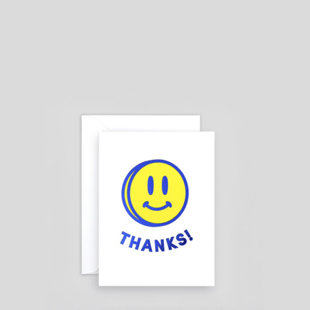 Smiley Thanks Card