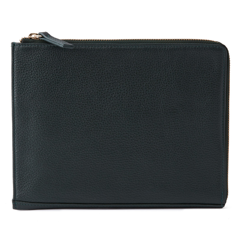 brand new b61fb aff52 A5 Leather Folio, Racing Green | Not-Another-Bill