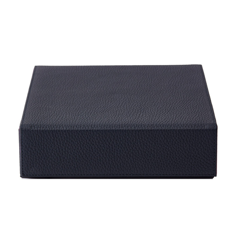 Personalised Jewellery Box Navy Leather Jewellery Box Not Another Bill